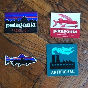 4 Patagonia Sticker Pack